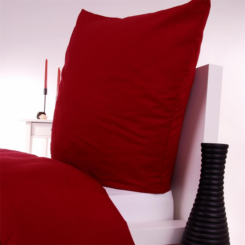bettw sche in bordeaux rot baumwolle linon hans textil shop. Black Bedroom Furniture Sets. Home Design Ideas