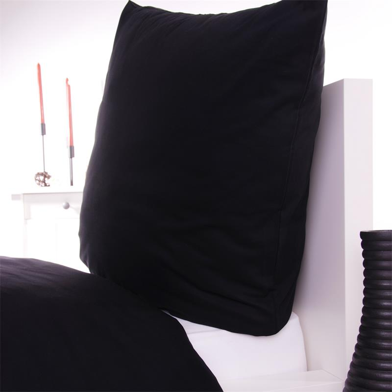 bettw sche in schwarz aus baumwolle linon hoteltextilshop. Black Bedroom Furniture Sets. Home Design Ideas