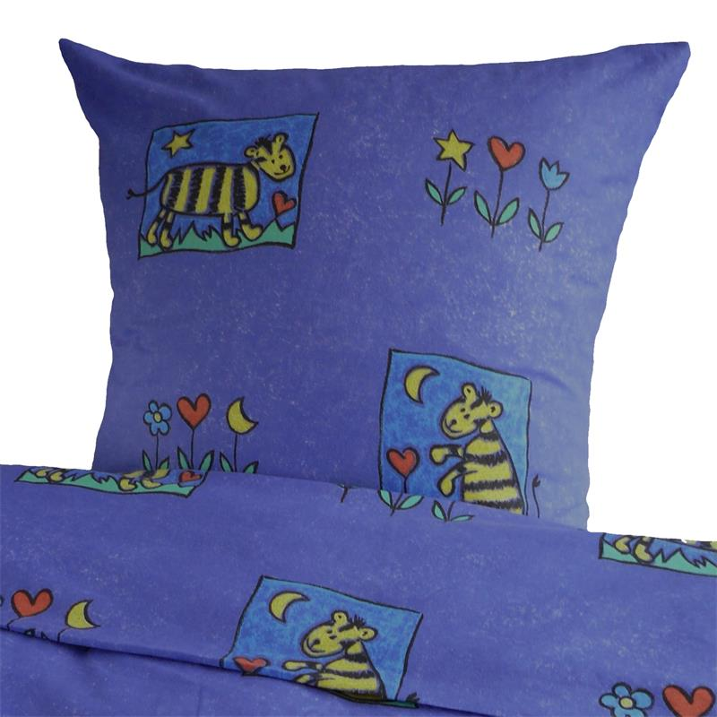 biber kinderbettw sche mit tiger und blumen hans textil shop. Black Bedroom Furniture Sets. Home Design Ideas