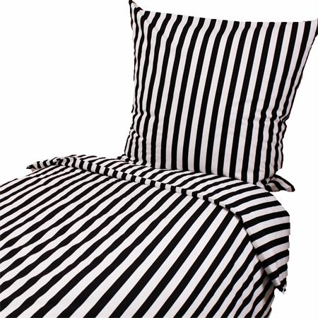 bettw sche streifen stripes schwarz weiss 135x200 und 80x80 cm baumwolle gestrei ebay. Black Bedroom Furniture Sets. Home Design Ideas