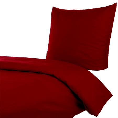 bettw sche 135x200 80x80 cm uni rot bordeaux baumwolle einfarbig bettbezug ebay. Black Bedroom Furniture Sets. Home Design Ideas
