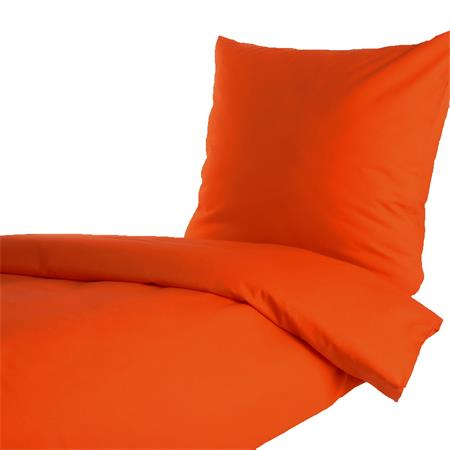 uni einfarbig orange bettw sche 135x200 und 80x80 cm feinf dige baumwolle linon ebay. Black Bedroom Furniture Sets. Home Design Ideas