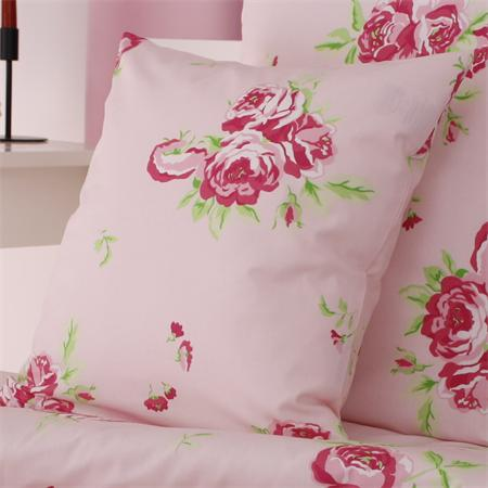 kissenbezug 40x40 cm blumen rosen rosa rv baumwolle kissenh lle kissen deko ebay. Black Bedroom Furniture Sets. Home Design Ideas