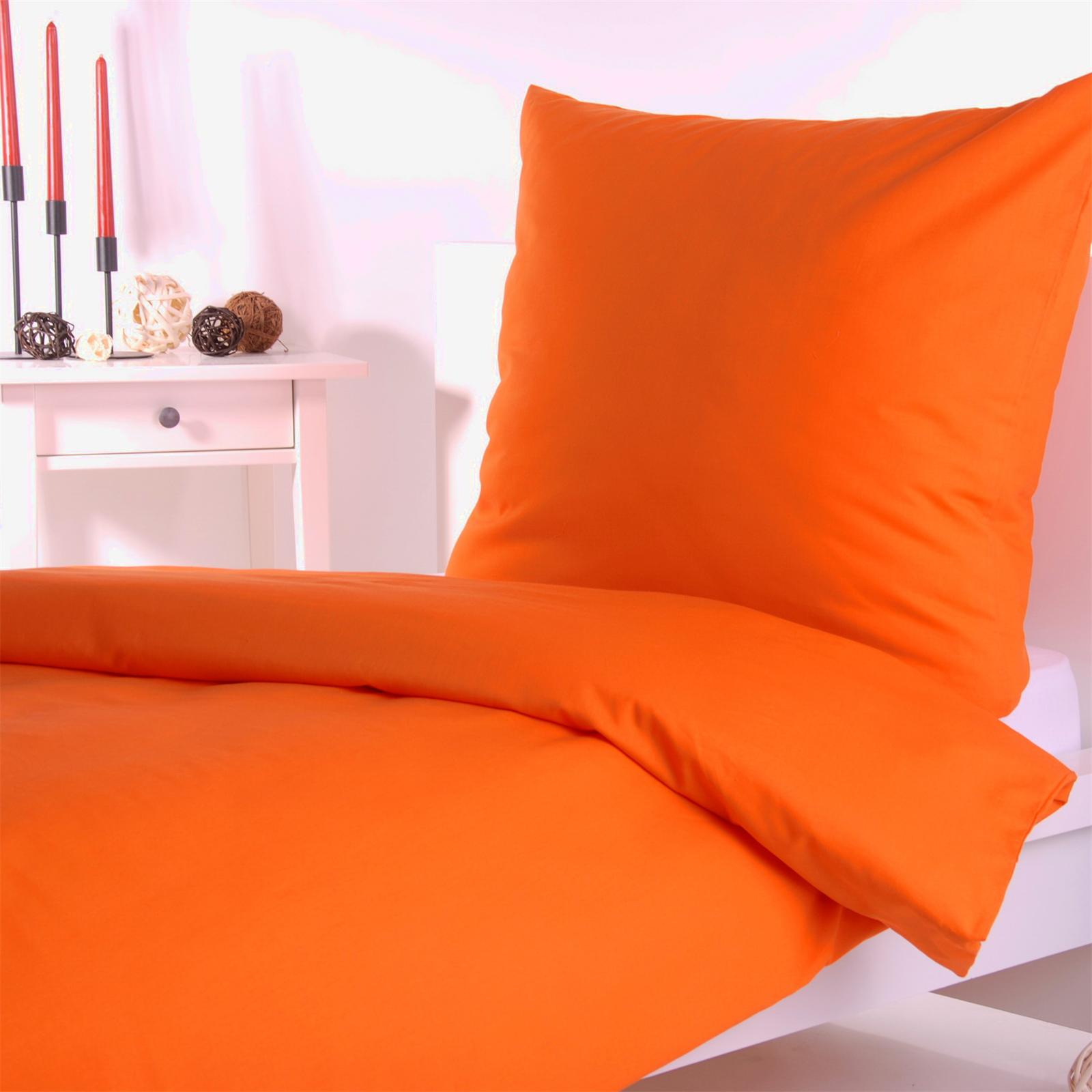uni einfarbige bettw sche baumwolle linon rei verschluss ebay. Black Bedroom Furniture Sets. Home Design Ideas